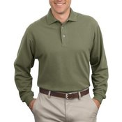 Long Sleeve Heavyweight Cotton Pique Polo