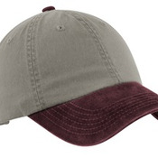 Two Tone Garment Washed Cap