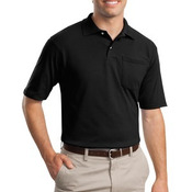 SpotShield ™ 5.6 Ounce Jersey Knit Sport Shirt with Pocket